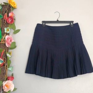 Jcrew Navy Pleated Skirt